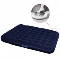 Надувной матрас Easy Inflate Flocked Air Bed(Twin) 188х99х28 см, встроенный ножной насос