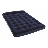 Надувной матрас Easy Inflate Flocked Air Bed(Double) 191х137х28 см, встроенный ножной насос